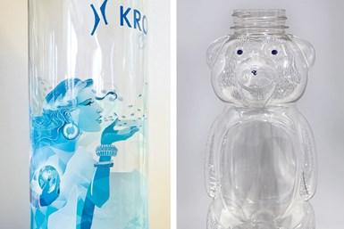 Impresión digital por inyección de tinta en botellas de PET, de Krones.