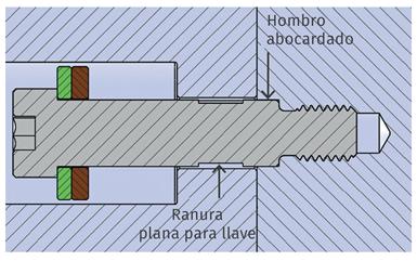 Figura 3. Tornillo con hombro abocardado.