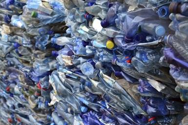 Botellas plásticas recicladas.