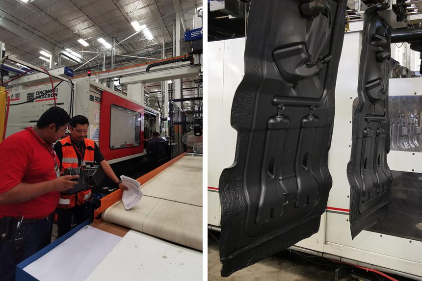 La compañía fabrica componentes para la industria automotriz mediante moldeo por inyección y moldeo por soplado, principalmente.