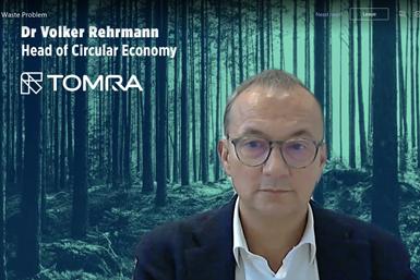 Dr.Volker Rehrmann, vicepresidente ejecutivo de TOMRA
