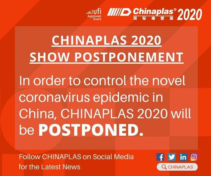 Adsale pospone Chinaplas 2020 hasta nueva fecha.