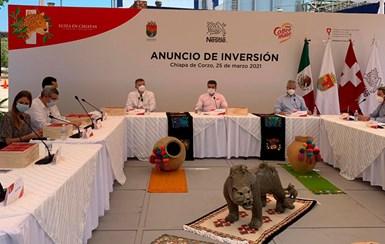 La inversión por300 millones de pesos de Nestlé México en su planta deChiapa de Corzo servirá para adecuar una nueva línea de envasado y un sistema de digitalización de procesos con tecnología de última generación.