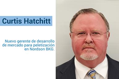 Curtis Hatchitt, nuevo gerente de desarrollo de mercado para peletización de Nordson BKG.