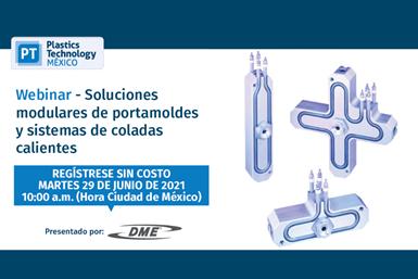 """El webinar""""Soluciones modulares de portamoldes y sistemas de coladas calientes"""" se realizará el 29 de junio a las 10:00 a.m."""