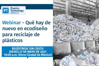 """Webinar """"Qué hay de nuevo en ecodiseño para reciclaje de plásticos""""."""