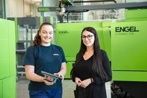 Un aprendizaje técnico ofrece oportunidades profesionales prometedoras para las niñas. Los aprendices pueden formarse en ocho profesiones en Engel.