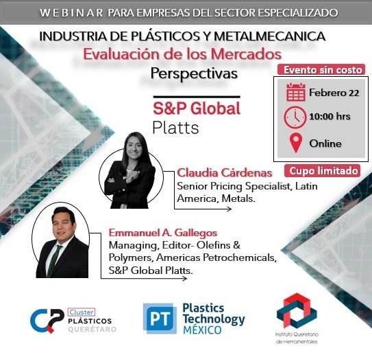 Webinar sobre evaluación de mercados para las industrias plástica y metalmecánica
