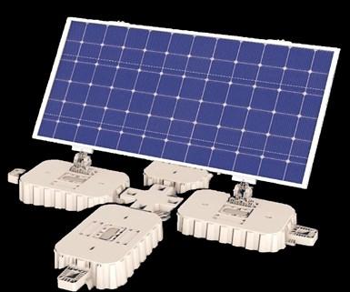 Un compuesto especial de PP, de SABIC, se utiliza para moldear los flotadores del sistema de paneles solares flotantes de Solaris-Protev.