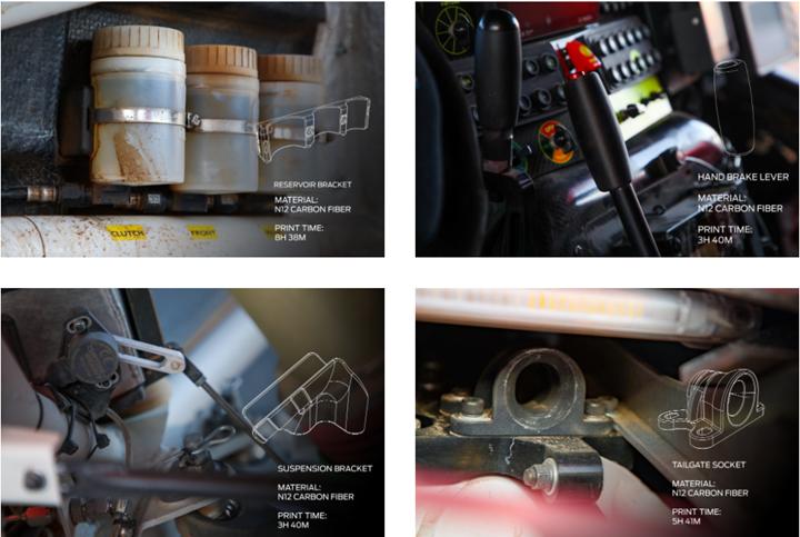 La impresora 3DMETHOD X operó en un camión de soporte donde las piezas fueron impresas tanto para pruebas como para la carrera en sí.