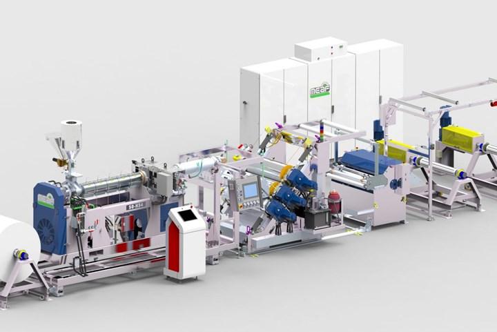 MeafMachines agregó una instalación de espuma física Promixa su línea de prueba y demostración de extrusoras internas.