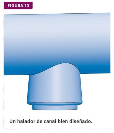 Fig. 10 Un halador de canal bien diseñado.