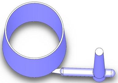 Fig. 5 Una parte con compuerta tangencial.
