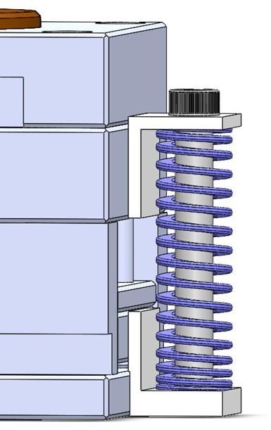 Fig. 6. Resorte montado externamente.