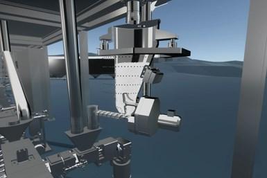 El activador de sólidos a granel ActiFlow se monta fuera de la zona del producto y requiere un espacio mínimo.