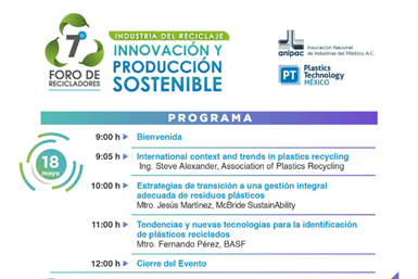 Programa primer día Foro de Recicladores de ANIPAC.