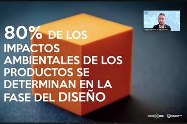 En su turno Sabo Tercero, CEO y fundador de Inventor Studio México dedicó su exposición a la importancia del diseño de producto en la economía circula