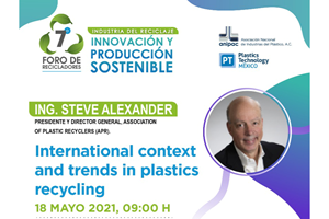 Steve Alexander, presidente y director general de la APR, será uno de los conferencistas del7°Foro de Recicladores de ANIPAC.