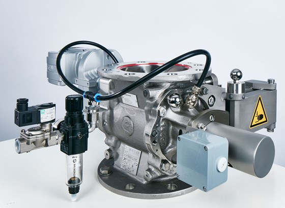 Contact-Monitoring System for Rotary Valves Designed for Safety
