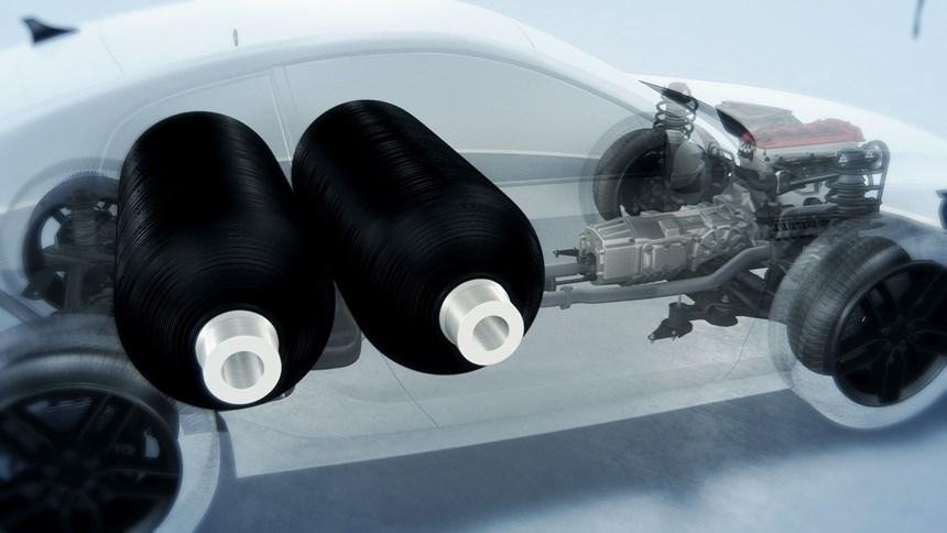 high-pressure composite tanks for hydrogen storage