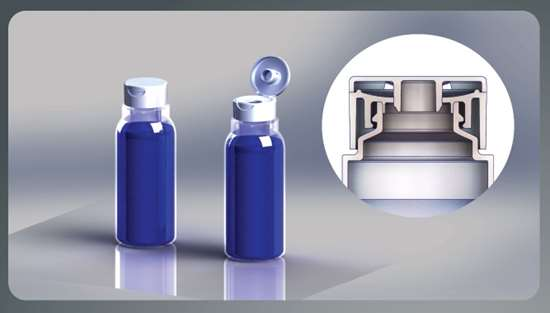 Currier Plastics blow molded containers and injection molded closures.