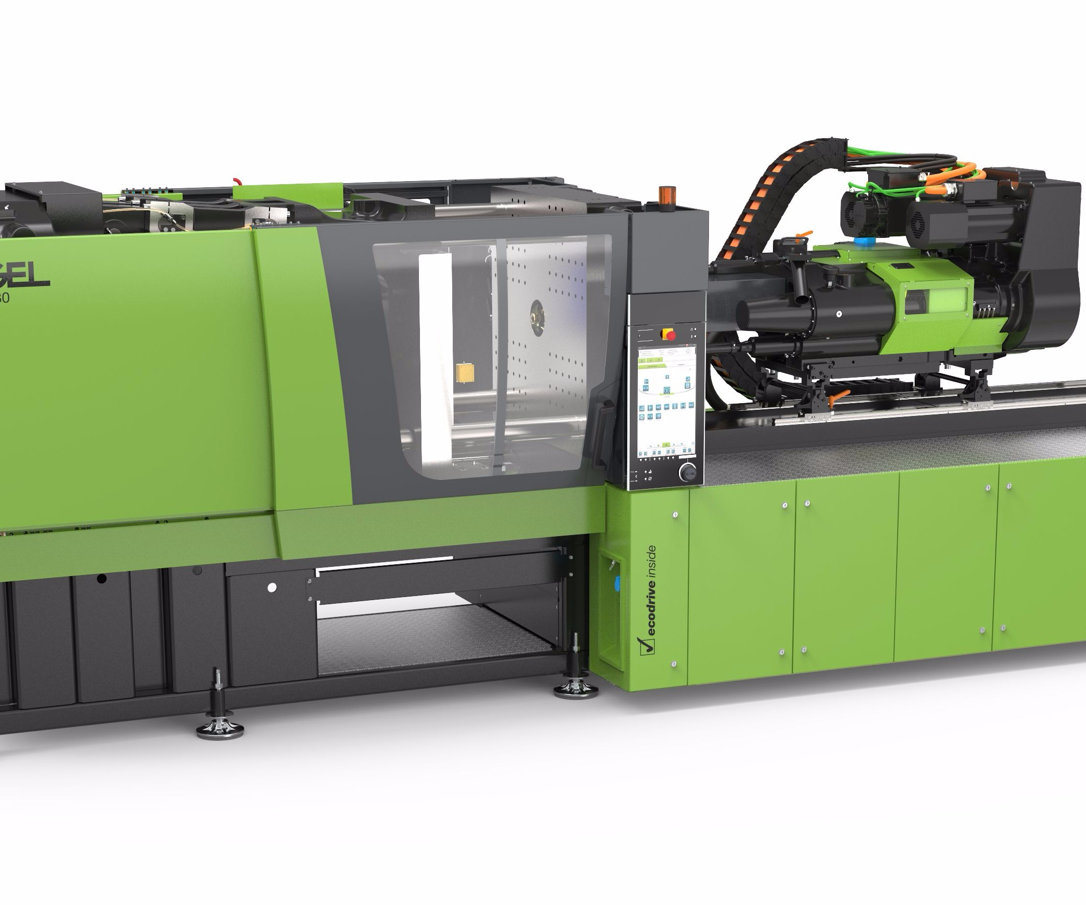 economical all-electric e-mac 280 press from Engel