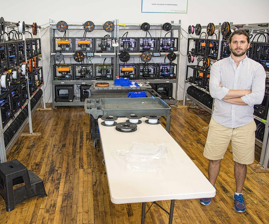 MakerBot 3D printers at Voodoo Mfg