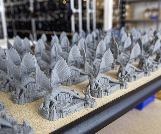 3D printed plastic parts at Voodoo Mfg