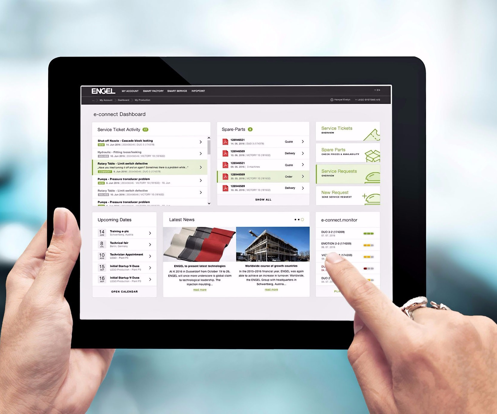 Engel e-connect customer service portal for preventive maintenance