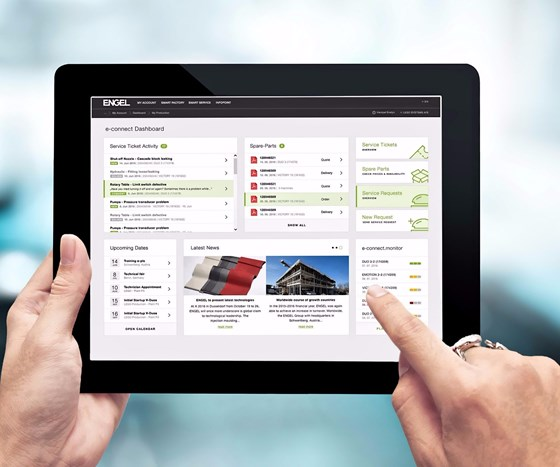 Engel e-connect customer service portal for preventive maintenance