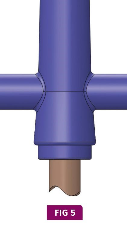 reverse taper sprue puller