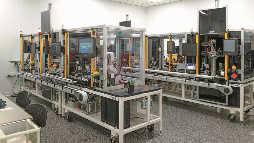 Isometric automated inspection and assembly