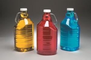 Pretium Packaging blow molded PET bottle integrated handle.