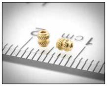 microPEM threaded insert fasteners for plastics