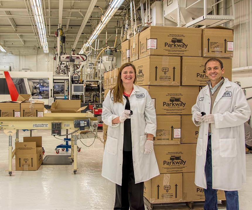 Kirstin Rowan Kelly and Ned Rowan help run Parkway Plastics