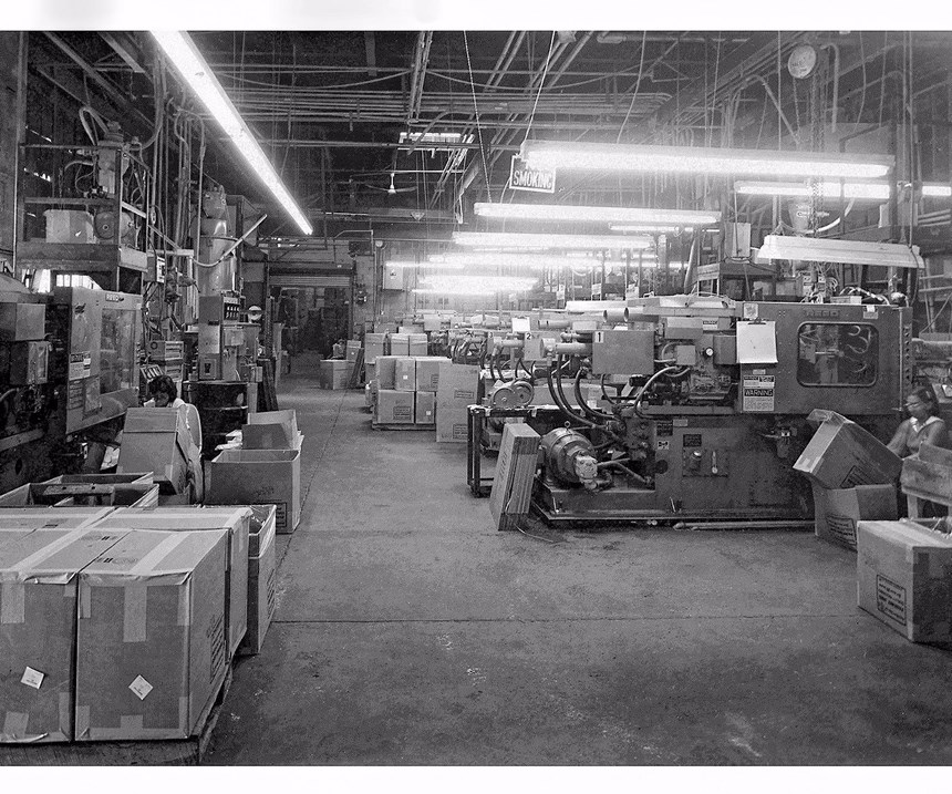 Parkway Plastics injection molding packaging in the 1970s
