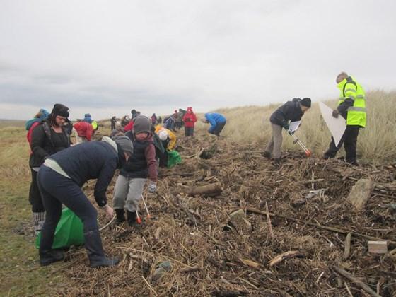 Beach Plastic volunteer cleanup