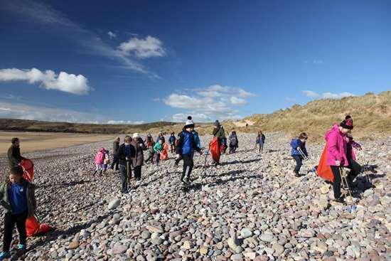 Beach plastic volunteer cleanup TerraCycle