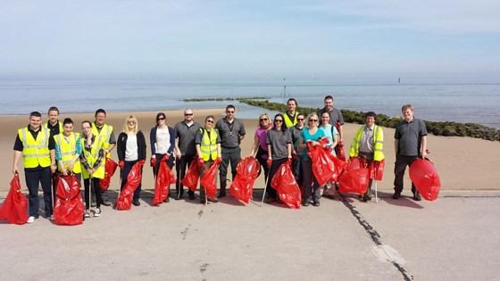 Beach plastic volunteers TerraCycle