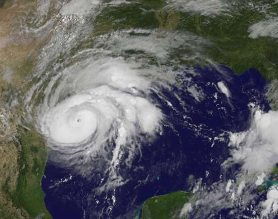 Hurrican Harvey satellite image