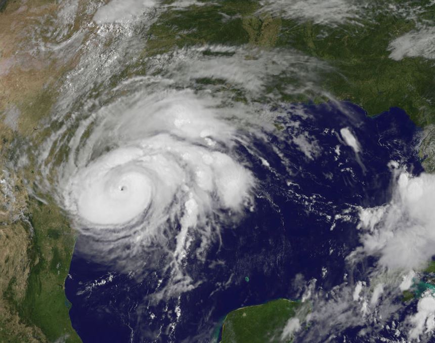 Hurrican Harvey satellite image