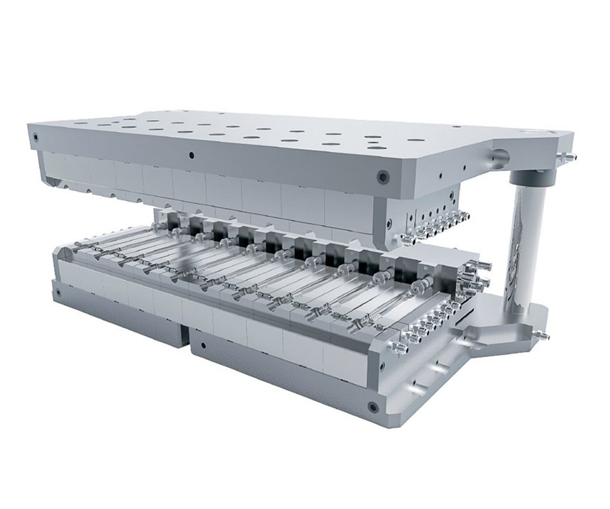 Liberty injection-blow mold tooling system from R&D/Leverage
