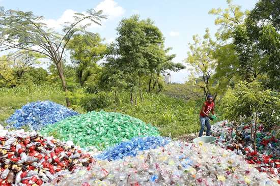 Plastic bottles Haiti