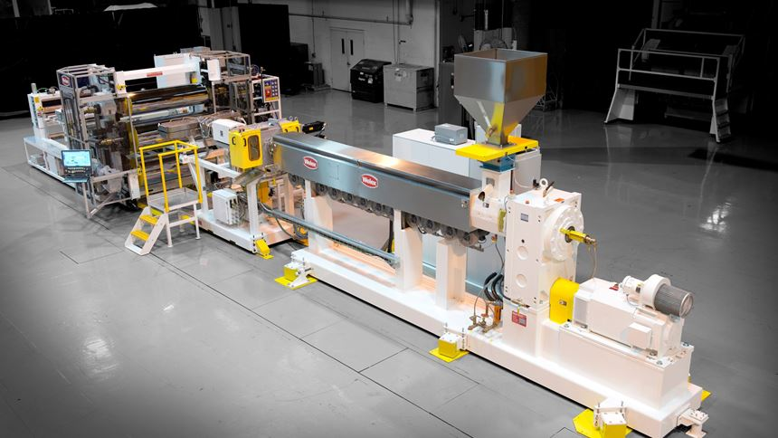 Welex Evolution extrusion system for thin-gauge sheets