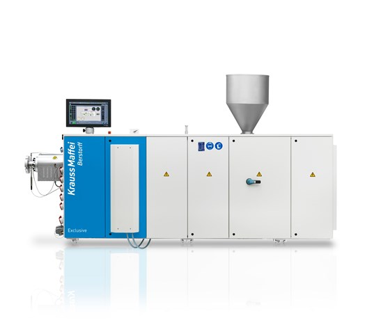KMD 73 K/P conical twin-screw extruder with high output for profile extrusion
