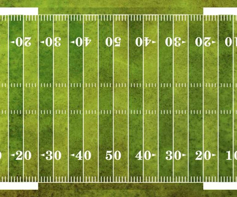 Football field from above