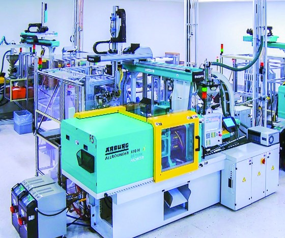 Scientific Specialties Inc. (SSI), Lodi, Calif., has three automation cells making pipette tips.