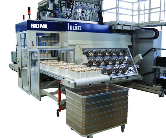 High-speed thermoforming lines.