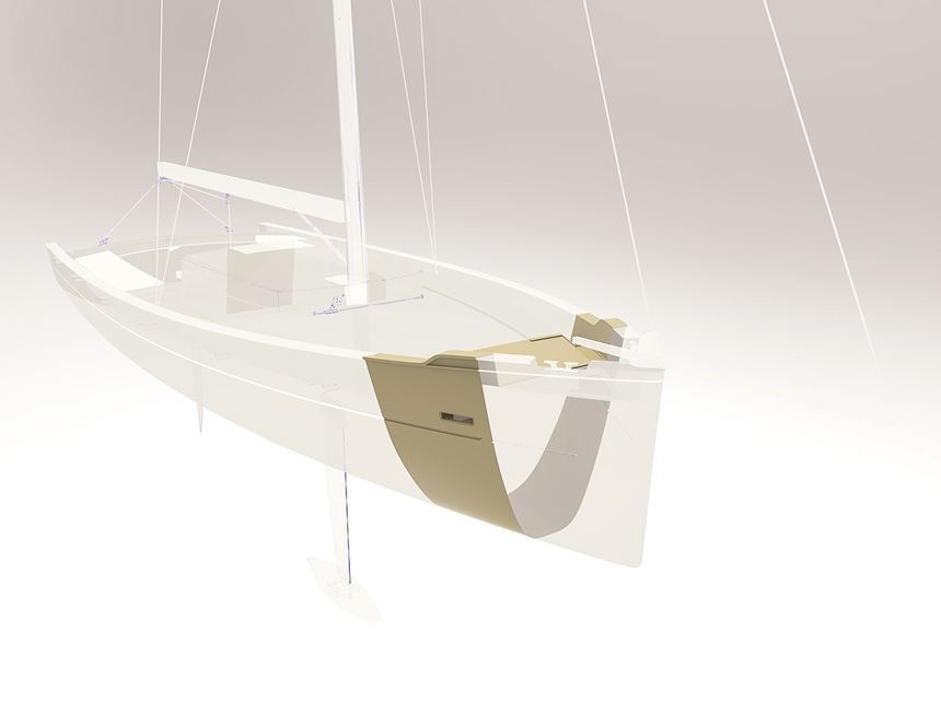 concept boat hull Livrea Yacht