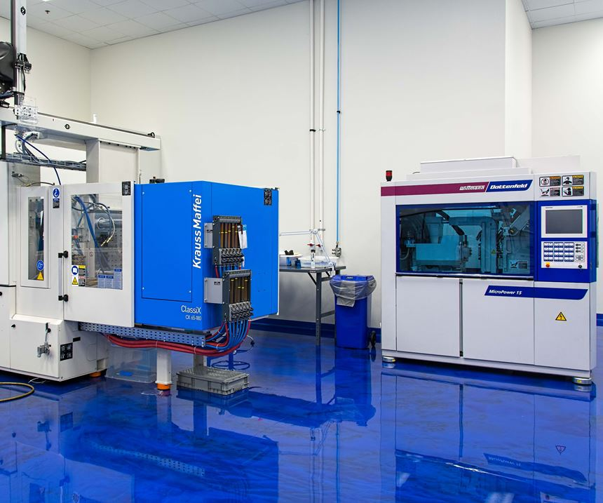 White Room with Wittmann Battenfeld MicroPower micromolding injection molding machine